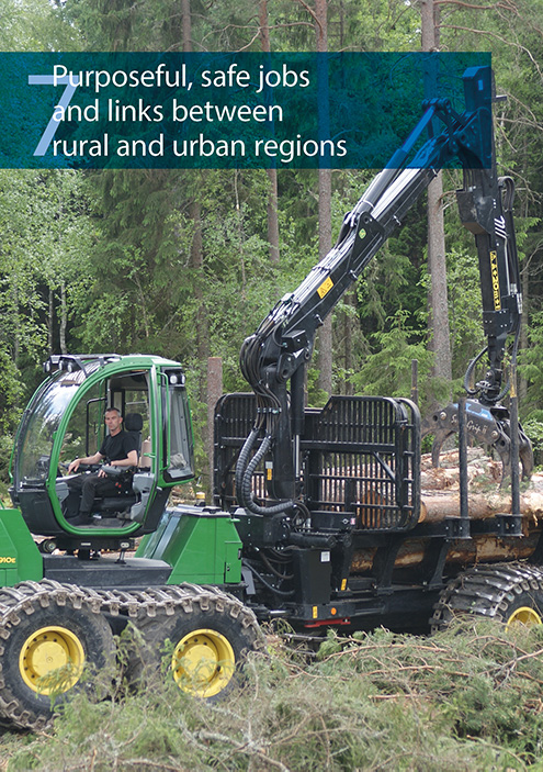 Purposeful and safe jobs and links between, in rural and urban regions