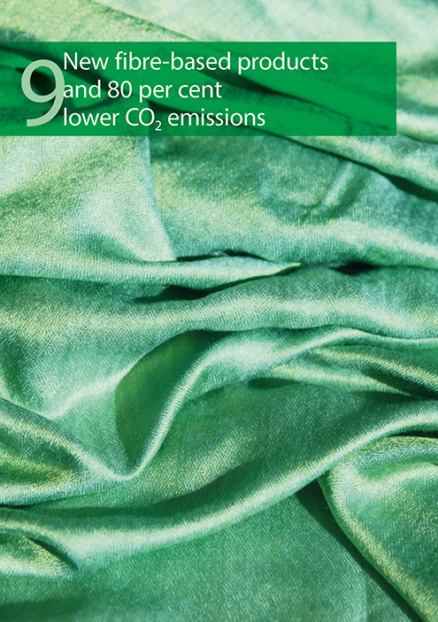 New fibre-based products and 80 per cent lower CO2 emissions